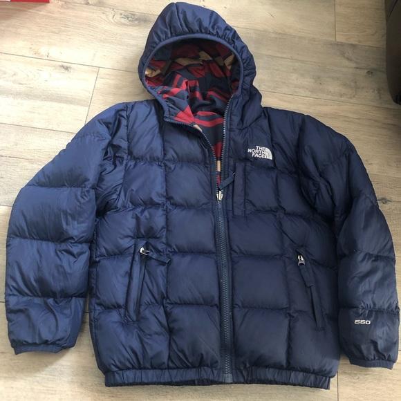 05f1e9ff4 Boys Northface Puffer Jacket Small 7-8 Reversible